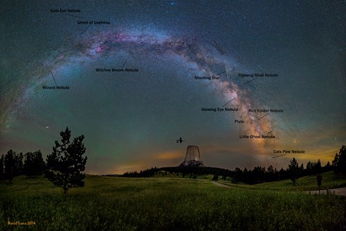 devil's tower milky way Astronomy science - 8365636096