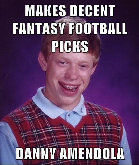 sports bad luck brian Memes fantasy football - 8365642752
