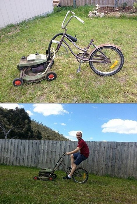 mowing the lawn,genius,lawn mowers