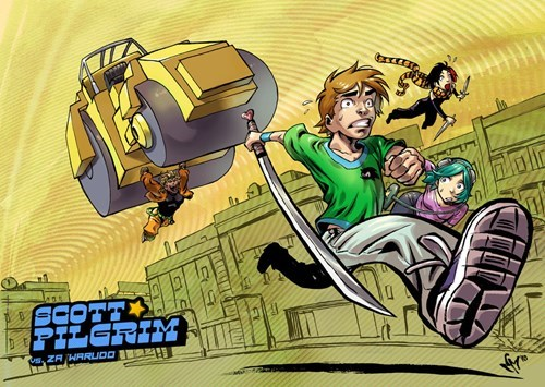 Fan Art,scott pilgrim,JoJo's Bizarre Adventure