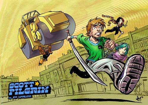 Fan Art scott pilgrim JoJo's Bizarre Adventure - 8365790464