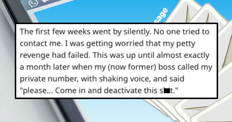 guy gets fired and exercises revenge