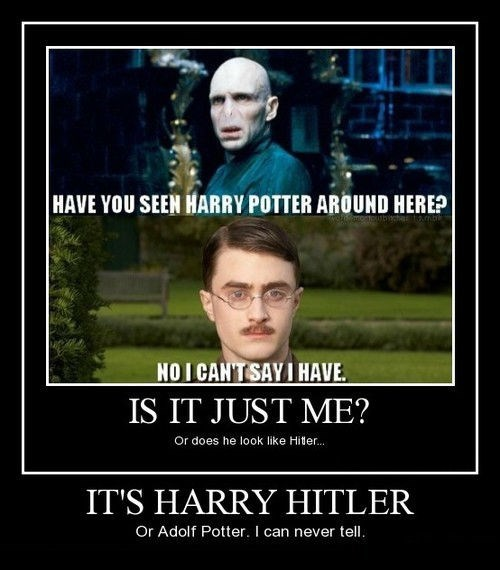 mustache Harry Potter funny - 8367993600
