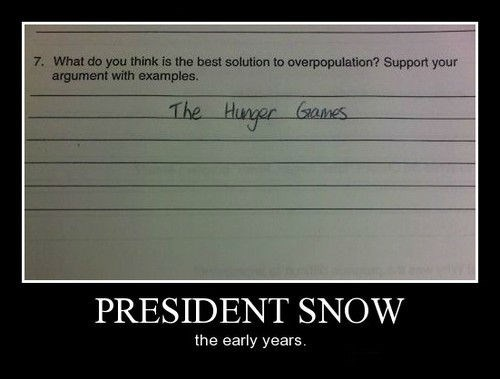 hunger games overpopulation funny - 8367993856