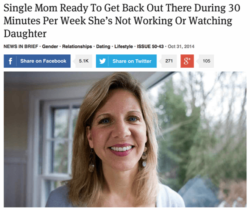 the onion,headline,satire,parenting,dating