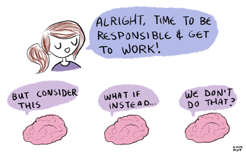 monday thru friday,work,brain,web comics