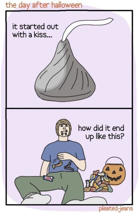 hersheys,candy,halloween,KISS,sad but true,web comics
