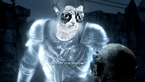 Grumpy Cat,shadow of mordor
