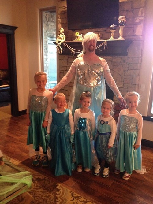 costume halloween parenting dad elsa frozen sister g rated disney kids cute - 8368286208