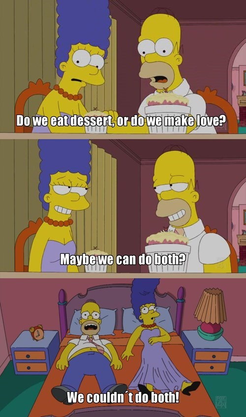 relationships,dessert,the simpsons