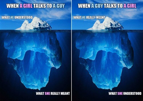 subtext men funny women iceberg - 8368301312