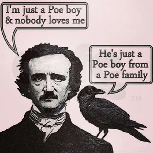 edgar allen poe,funny,literature,raven