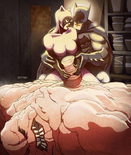 Fan Art,clayface,ghost,catwoman,batman