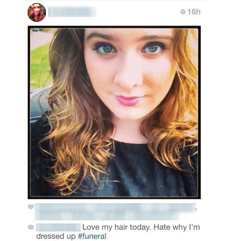 funerals instagram selfie - 8368494336
