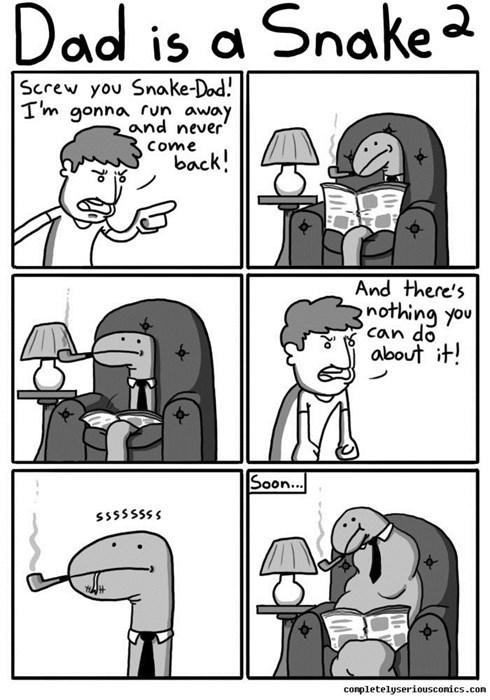dads sad but true parenting snakes web comics - 8368494848