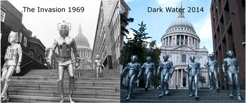 classic who,Then And Now,cybermen