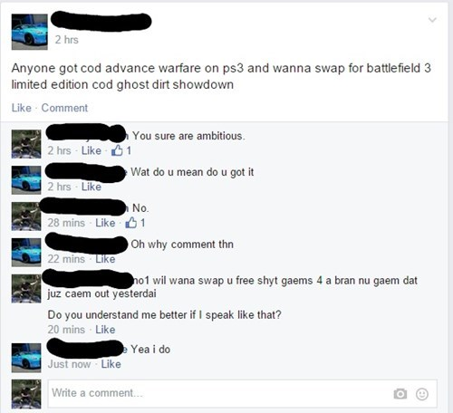 call of duty,grammar,trade,video games,failbook,g rated