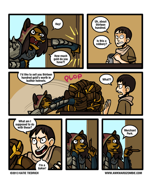 in this economy merchant video games Skyrim web comics - 8368526080
