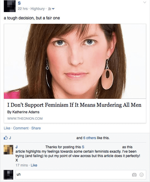the onion,parody,satire,feminism