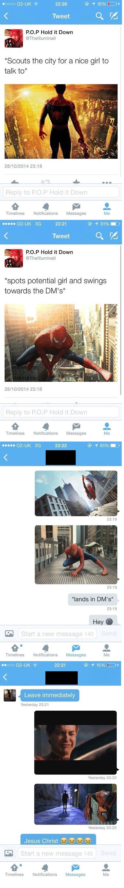 twitter flirting Spider-Man failbook g rated - 8368636416