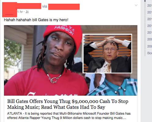 rap,fake,Bill Gates