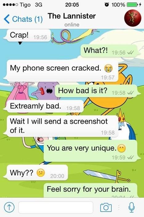 screenshot facepalm phone texting - 8368645632