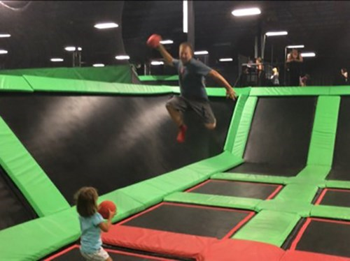 kids,parenting,trampoline,dad,g rated