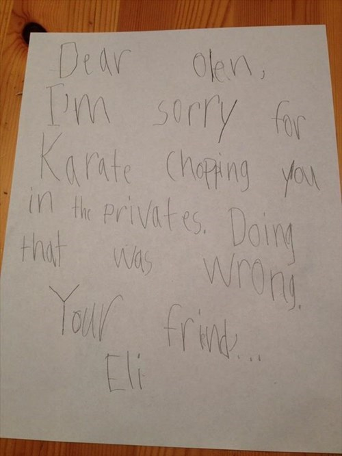 kids,letters,note,parenting,apology