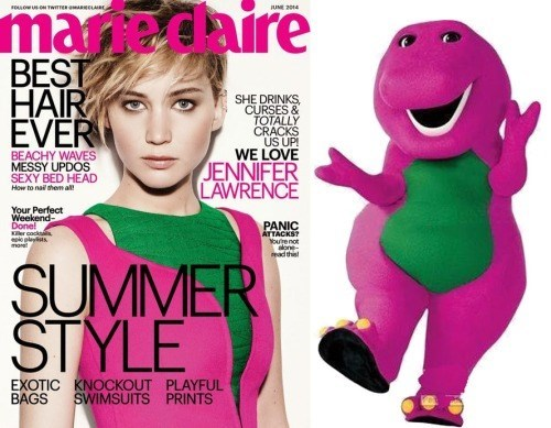 poorly dressed,marie claire,barney,jennifer lawrence,g rated