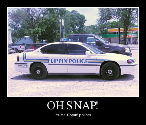 flippin cars funny police - 8369150208