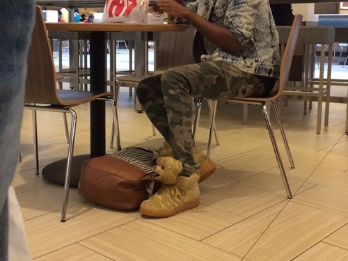 shoes teddy bear poorly dressed camouflage g rated