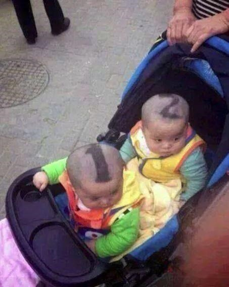 hair baby haircut parenting twins - 8369208576