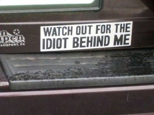cars,driving,bumper stickers