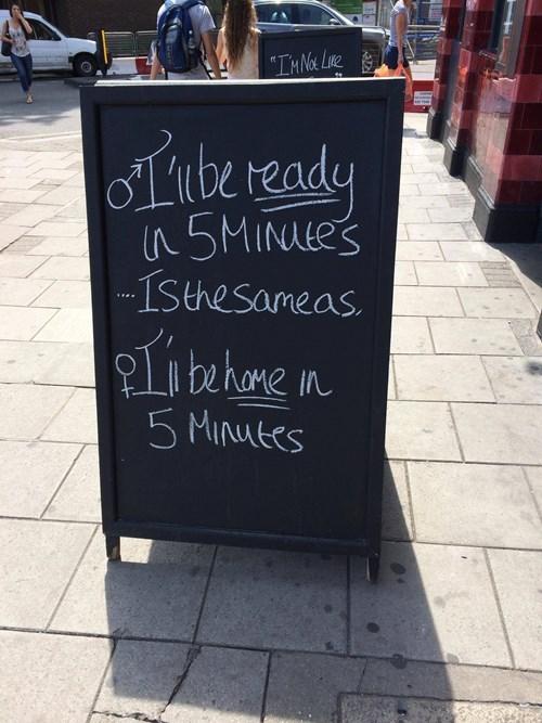 sign men 5 minutes funny women - 8369303808