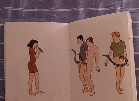 snake charmer,men,no no tubes,funny