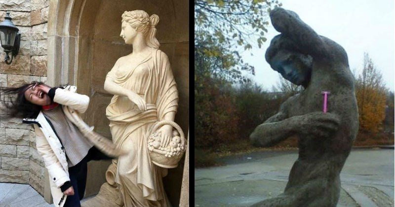 artists humor art statues clever photos lol funny stupid - 8369413