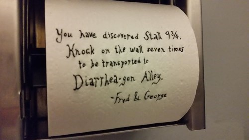 Bathroom Graffiti bathroom Harry Potter nerdgasm gross hacked irl g rated win - 8369508608