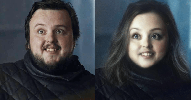 Snapchat gender change filter on Game of Thrones characters Season 8.