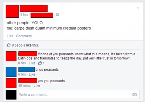 yolo carpe diem facebook - 8369697536