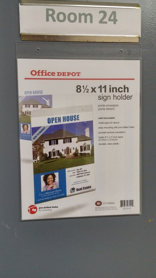 holder monday thru friday office supplies sign