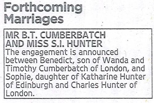 benedict cumberbatch marriage engagement - 8370094592