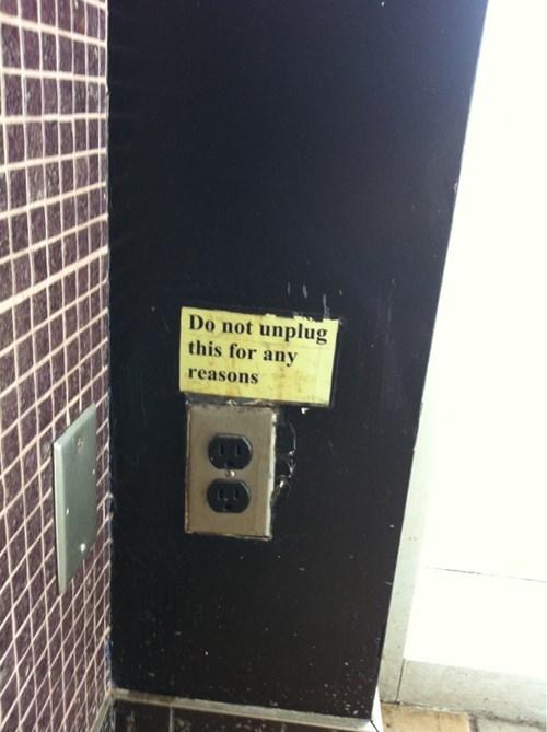 monday thru friday sign outlet warning - 8370153728