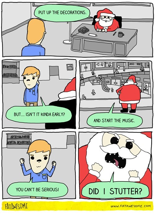 christmas in this economy malls santa web comics - 8370323456