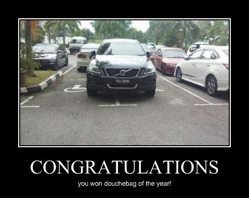 douche cars jerks idiots funny parking - 8370332416