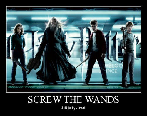 Harry Potter awesome wands funny - 8370333952