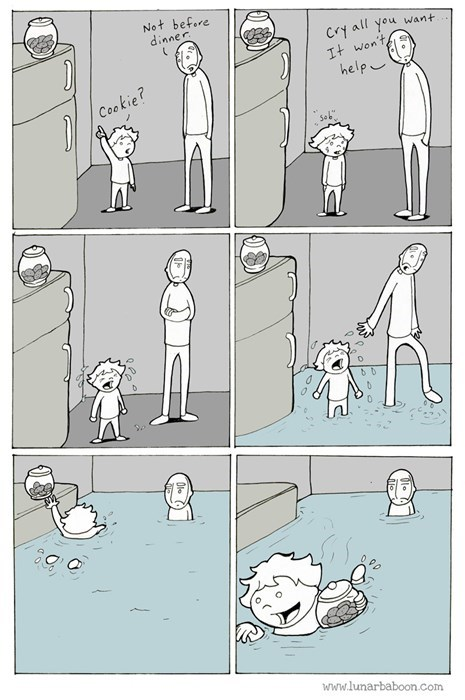 kids,parenting,crying,cookies,web comics