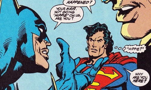 hippies Straight off the Page batman superman - 8370415616
