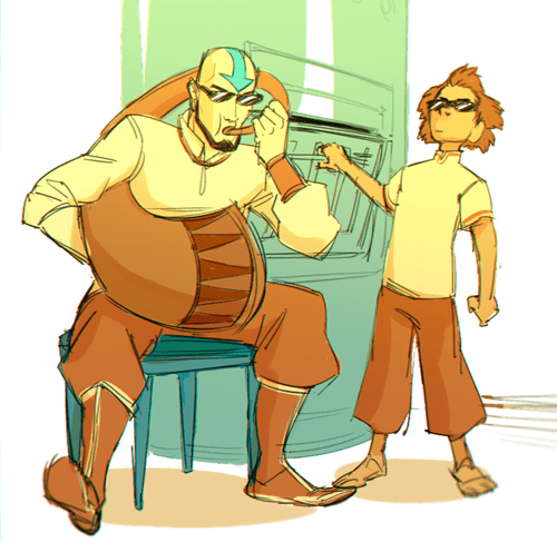 bumi,when mom isnt home,aang,Fan Art,Avatar