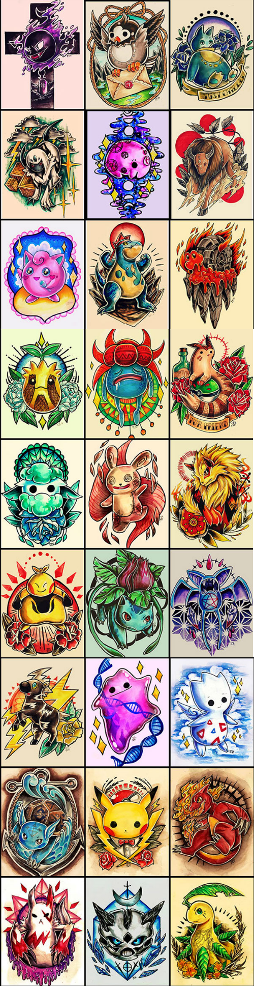 Pokémon Fan Art tattoos - 8370513664