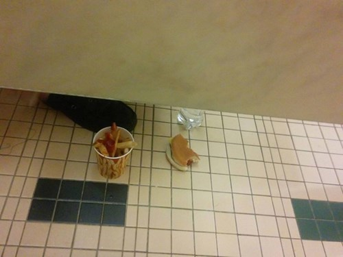 gross bathroom food - 8370572288